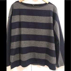 Size Medium boatneck wool sweater